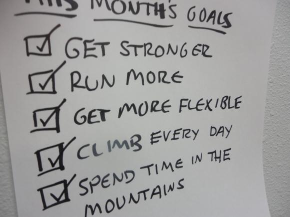 Climbing Running Goals