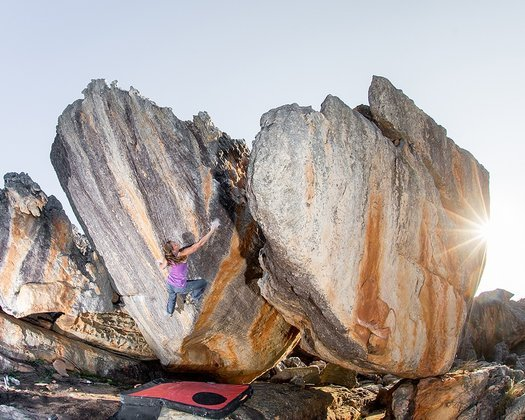 Anna on Power of One in Rocklands. Photo by Reinhard Fichtinger/La Sportiva